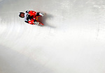 6 February 2009: Veronika Halder from Austria slides through a curve in the Women's Competition finishing in 12th place for the event with a combined time of 1:29.377 at the 41st FIL Luge World Championships, in Lake Placid, New York, USA. .  .Mandatory Photo Credit: Ed Wolfstein Photo