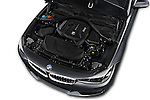 Car Stock 2017 BMW 3-Series 330i-Gran-Turismo 5 Door Hatchback Engine  high angle detail view