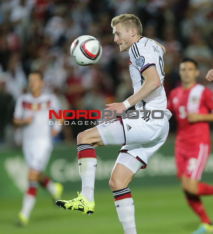 EM 2015 Qualifikationsspiel, Gibraltar vs. Deutschland<br /> Andr&eacute; Sch&uuml;rrle (Deutschland)<br /> <br /> <br /> Foto &copy; nordphoto /  Bratic
