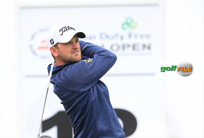 Bernd Wiesberger (AUT) tees off the 18th tee during Thursday's Round 1 of the 2016 Dubai Duty Free Irish Open hosted by Rory Foundation held at the K Club, Straffan, Co.Kildare, Ireland. 19th May 2016.<br /> Picture: Eoin Clarke | Golffile<br /> <br /> <br /> All photos usage must carry mandatory copyright credit (&copy; Golffile | Eoin Clarke)