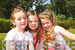 Lauren Smullin, Ava McCann and Dawn McLaron pictured at the Bryan Carr Summer Stage School on Friday at Collis Sandes House.