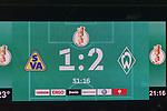 10.08.2019, wohninvest Weserstadion, Bremen, GER, DFB-Pokal, 1. Runde, SV Atlas Delmenhorst vs SV Werder Bremen<br /> <br /> DFB REGULATIONS PROHIBIT ANY USE OF PHOTOGRAPHS AS IMAGE SEQUENCES AND/OR QUASI-VIDEO.<br /> <br /> im Bild / picture shows<br /> Anzeigentafel nach dem Anschlusstreffer durch Delmenhorst<br /> <br /> <br /> Foto © nordphoto / Kokenge