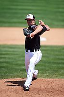 Erie Seawolves pitcher Chad Green (18) delivers a pitch during a game against the Richmond Flying Squirrels on May 20, 2015 at Jerry Uht Park in Erie, Pennsylvania.  Erie defeated Richmond 5-2.  (Mike Janes/Four Seam Images)