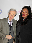 Amazing Kreskin poses with Covergirl Model Jordan Tesfay who won an award for Model of the Year at Color of Beauty Awards hosted by VH1's Gossip Table's Delaina Dixon and Maureen Tokeson-Martin on February 28, 2015 with red carpet, awards and cocktail reception at Ana Tzarev Gallery, New York City, New York.  (Photo by Sue Coflin/Max Photos)
