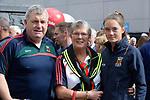 17-1-2017: Jim, Sheila and Maebh O'Shea, originally from Killorglin and parents of Mayo footballers Aidan and Conor O'Shea  the All-Ireland Football final at Croke Park on Sunday.<br /> Photo: Don MacMonagle