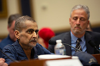 Luis Alvarez, who is about to start his 69th round of chemo on June 12, testifies at a hearing on the 9-11 Victims fund before the Judiciary subcommittee on Capitol Hill in Washington D.C. on June 11, 2019.<br /> <br /> Credit: Stefani Reynolds / CNP/AdMedia