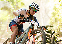 Picture by Alex Broadway/SWpix.com - 09/09/17 - Cycling - UCI 2017 Mountain Bike World Championships - XCO - Cairns, Australia - Evie Richards of Great Britain competes in the Women's Under 23 Cross Country Final.