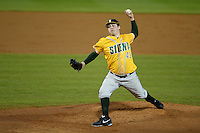 Siena Saints pitcher Matt Gage (49) during the season opening game against the Central Florida Knights at Jay Bergman Field on February 14, 2014 in Orlando, Florida.  UCF defeated Siena 8-1.  (Mike Janes/Four Seam Images)