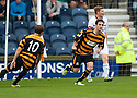 Alloa's Kevin Cawley (right) celebrates after he scores their first goal.