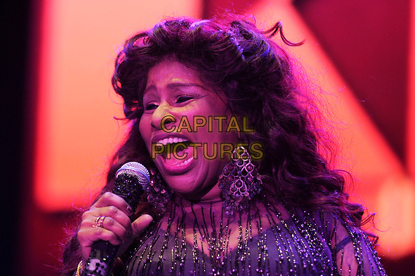 LONDON, ENGLAND - OCTOBER 27: Chaka Khan performing at Bluesfest at the O2 Arena on October 27, 2017 in London, England.<br /> CAP/MAR<br /> &copy;MAR/Capital Pictures