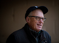 LOUISVILLE, KY - MAY 03: Trainer, John Sherriffs talks to the media at Churchill Downs on May 03, 2017 in Louisville, Kentucky. (Photo by Alex Evers/Eclipse Sportswire/Getty Images)