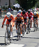 Jake Taylor of the Davis Bike Club Race Team from Rancho Cordova, Ca leads the Elite 3/4 division of the Tour De Nez Bike Race in downtown Reno on Saturday, June 11, 2016.  Taylor was the Elite 3 winner.