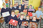 BOXES: Pupils at Rathmorrel national school in Causeway who have been putting Christmas boxes together for children in developing countries.