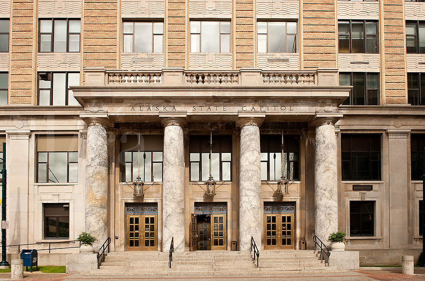 State capitol building, downtown, Juneau, Alaska, USA