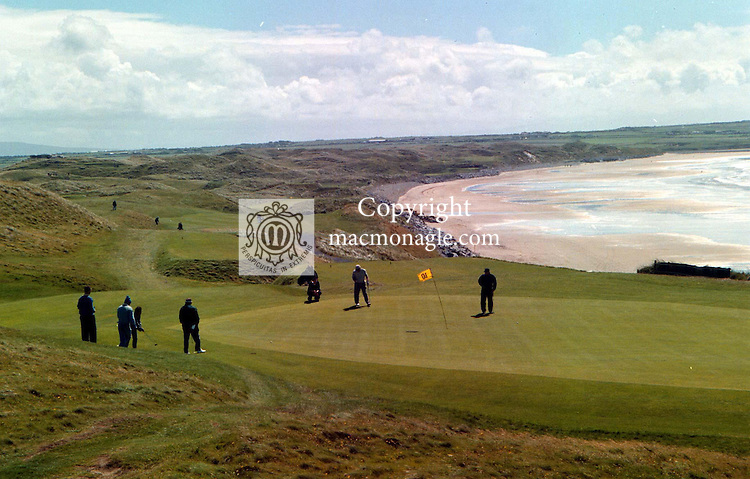 The 10th green with its spectacular scenery at Ballybunion Golf Club..©Picture by Don MacMonagle.6 Port Road, Killarney Co. Kerry, Ireland.Tel: 00-353+64+32833