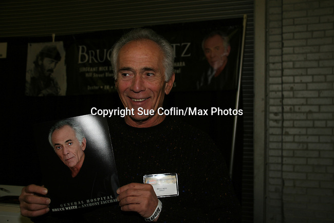 General Hospital's Bruce Weitz appears at Big Apple Comic Con for autographs and photos on October 16 (and 17 & 18), 2009 at Pier 94, New York City, New York. (Photo by Sue Coflin/Max Photos)
