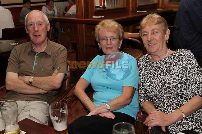 Patrick Gartland, Joan Floyd and Rosemary Byrne in the Thatch....Photo NEWSFILE/Jenny Matthews.