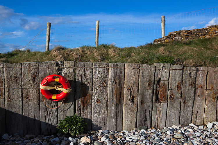 Irish Water Safety Lifering on Ballyquin Beach, Cappagh, Waterford, Ireland. (c) 2013 Dave Walsh