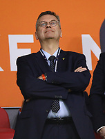 DFB-Präsident Reinhard Grindel - 13.10.2018: Niederlande vs. Deutschland, 3. Spieltag UEFA Nations League, Johann Cruijff Arena Amsterdam, DISCLAIMER: DFB regulations prohibit any use of photographs as image sequences and/or quasi-video.