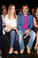 MIAMI, FL - MAY 31: Nicole Kimpel and Antonio Banderas attend Miami Fashion Week at the Ice Palace Studios on May 31, 2018 in Miami Florida. <br /> CAP/MPI04<br /> &copy;MPI04/Capital Pictures