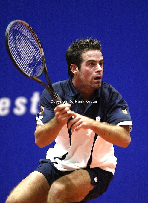 20031210, Rotterdam, LSI Masters, Raemon Sluiter in zijn partij tegen Eric Reuijl