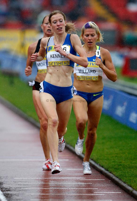 Photo: Richard Lane/Richard Lane Photography. Aviva British Grand Prix, Gateshead. 31/08/2008. Great Britain's Laura Kenny in the women's 3000m.