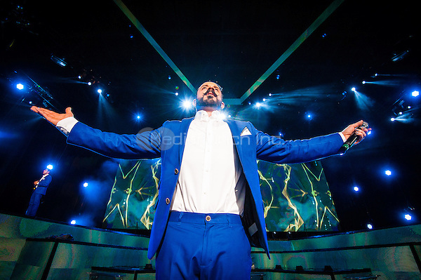 CLARKSTON, MI - JUNE 17: Backstreet Boys performs at DTE Energy Music Theatre on June 17, 2014 in Clarkston, Michigan. Photo Credit: RTNSchwegler / MediaPunch.