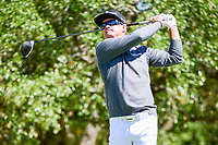 Brian Gay (USA) watches his tee shot on 2 during round 4 of the Valero Texas Open, AT&amp;T Oaks Course, TPC San Antonio, San Antonio, Texas, USA. 4/23/2017.<br /> Picture: Golffile | Ken Murray<br /> <br /> <br /> All photo usage must carry mandatory copyright credit (&copy; Golffile | Ken Murray)