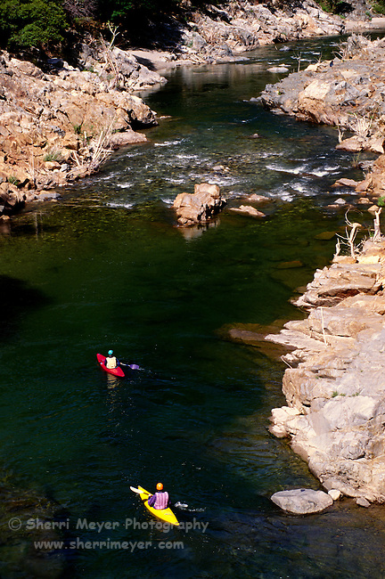 Men Kayaking on the Middle Fork of the Yuba River