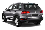 Car pictures of rear three quarter view of 2017 Volkswagen Touareg Sport 5 Door SUV Angular Rear
