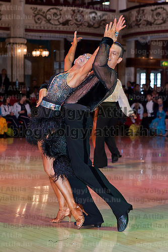 Oleg Kurianov & Natalia Popova from Russia perform their dance during the Professional Rising Stars Latin competition of the Blacpool Dance Festival is the most famous event among dance competiptions held in Blackpool, United Kingdom on May 27, 2011. ATTILA VOLGYI