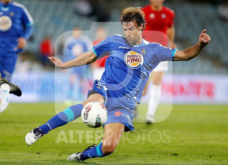 Getafe's Juan Valera during La Liga match.October 26,2011. (ALTERPHOTOS/Acero)