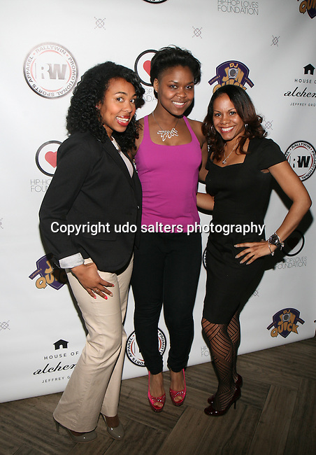 Carrie Pink, Honoree SHANELLE GABRIEL and Monique at DJ Jon Quick's 5th Annual Beauty and the Beat: Heroines of Excellence Awards Honoring AMBRE ANDERSON, DR. MEENA SINGH,<br /> JESENIA COLLAZO, SHANELLE GABRIEL, <br /> KRYSTAL GARNER, RICHELLE CAREY,<br /> DANA WHITFIELD, SHAWN OUTLER,<br /> TAMEKIA FLOWERS Held at Suite 36, NY