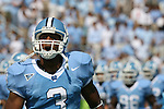 15 September 2007: North Carolina's Kenton Thornton leads the team onto the field. The University of Virginia Cavaliers defeated the University of North Carolina Tar Heels 22-20 at Kenan Stadium in Chapel Hill, North Carolina in an Atlantic Coast Conference NCAA College Football Division I game.