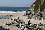 Boy hiking at Garrapata State Park