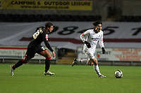 Pictured: Jordi Gomez of Swansea (R) chased by Marciano Van Homoet of Barnsley (L)<br /> Re: Coca Cola Championship, Swansea City FC v Barnsley at the Liberty Stadium. Swansea, south Wales, Tuesday 09 December 2008.<br /> Picture by D Legakis Photography / Athena Picture Agency, Swansea 07815441513