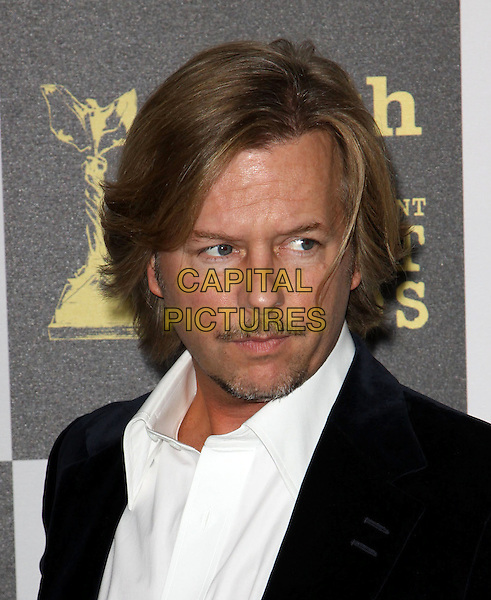 DAVID SPADE.25th Annual Film Independent Spirit Awards held At The Nokia LA Live, Los Angeles, California, USA,.March 5th, 2010 ..arrivals Indie Spirit portrait headshot moustache facial hair mustache black blue velvet jacket white shirt .CAP/ADM/KB.©Kevan Brooks/Admedia/Capital Pictures