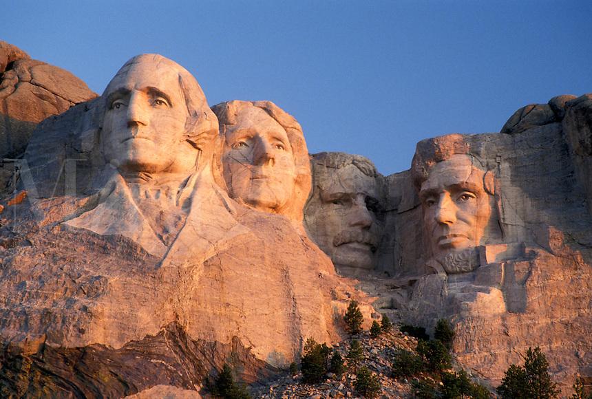 Mount Rushmore National Memorial, SD, South Dakota, Mt. Rushmore, Black Hills, View of Mount Rushmore Nat'l Memorial.