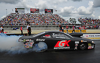 Mar. 9, 2012; Gainesville, FL, USA; NHRA pro stock driver Erica Enders during qualifying for the Gatornationals at Auto Plus Raceway at Gainesville. Mandatory Credit: Mark J. Rebilas-