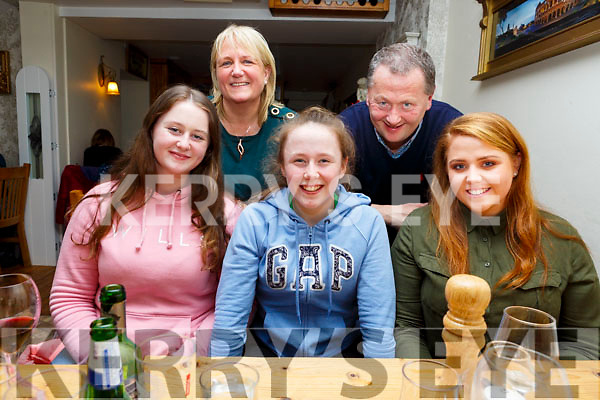 Clodagh Murray from Tralee celebrating her birthday in Bella Bia on Friday night last with her family. <br /> Seated l-r, Maeve, Clodagh and Emma Murray.<br /> Standing l-r, Xavier and John Murray.