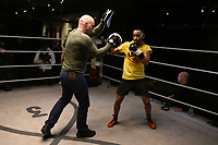 Kid Galahad with trainer Dominic Ingle during a Media Workout at 12x3 Gym on 8th January 2020