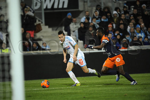 29.11.2013. Marseilles, France. French League 1 football. Marseilles versus Montpellier.  Thauvin (OM)