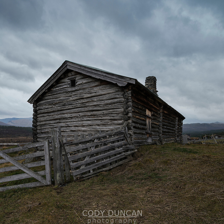 Old mountain barn, Russli, Oppland, Norway