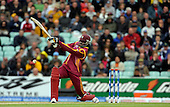 ICC World Cup T20 - West Indies V Australia at the Brit Oval - West Indies Chris Gayle on his way to a winning contribution of 88 runs, before falling to Brett Lee's bowling, caught by shane Watson - Picture by Donald MacLeod - 06 June 2009
