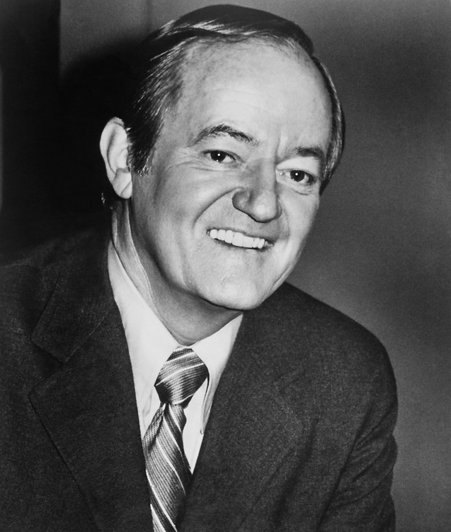 Close-up of Sen. Hubert Humphrey, D-Minn., in 1975. (Photo by CQ Roll Call)