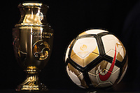 New York, NY - Friday June 24, 2016: Copa America Centenario trophy during a press conference prior to the final of the Copa America Centenario at The Westin New York at Times Square.<br /> <br /> Photo during American Cup USA 2016 Press Conference The Westin New York at Times Square. --- Foto durante la Conferencia de Prensa previo a la Gran Final de la Copa America Centenario USA 2016, enla foto: Trofeo<br /> <br /> ---24/06/2016/MEXSPORT/ Omar Martinez.