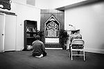 July 29, 2009. Durham, NC..Friday prayer service at Ar-Razzaq Islamic Center. Imam Greg Marrow is contact: 919.201.1529.Main 919.493.1230.