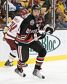 Luke Eibler (Northeastern - 20) - The Boston College Eagles defeated the Northeastern University Huskies 5-4 in their Hockey East Semi-Final on Friday, March 18, 2011, at TD Garden in Boston, Massachusetts.