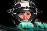 Mercedes Formula One driver Nico Rosberg of Germany is seen in the pit lane during a free practice session ahead of the weekend's Belgian F1 Grand Prix in Spa-Francorchamps, Belgium August 21, 2015. photo/Michael Kooren