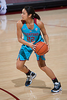 STANFORD, CA - December 4, 2016: Alexa Romano at Maples Pavilion. Stanford defeated UC Davis, 68-42. The Cardinal wore turquoise uniforms to honor Native American Heritage Month